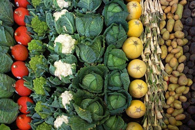 Verduras para deshidratar